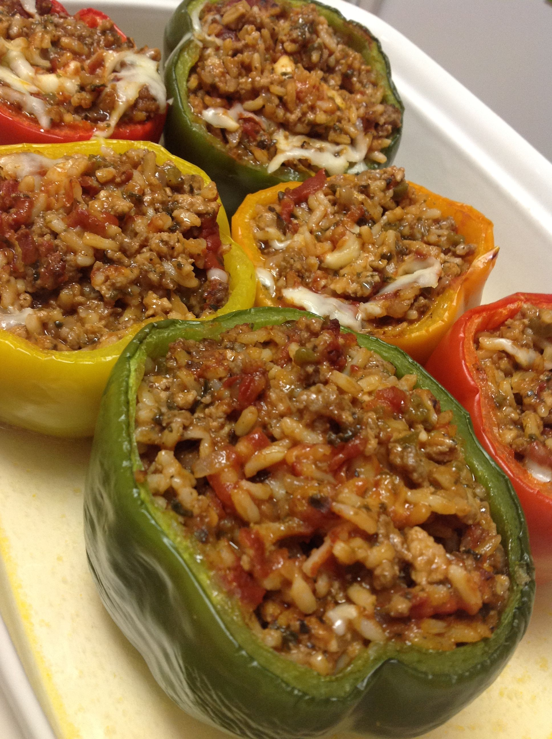 Pin By Kayanne Sharp On Food Worth Making Stuffed Peppers Beef Recipes Cooking Recipes