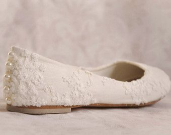 Walk Down The Aisle In These Ivory Lace Wedding Shoes Are Flats Flat And You Can Feel Comfortable