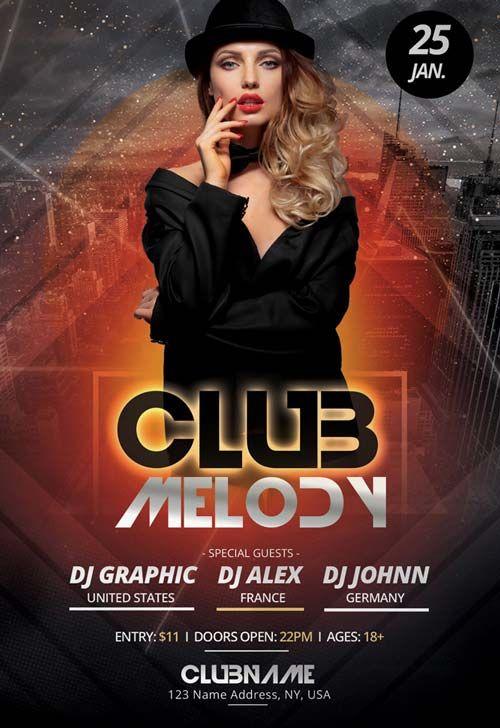 Club Melody Free Party Flyer Template Httpfreepsdflyerclub
