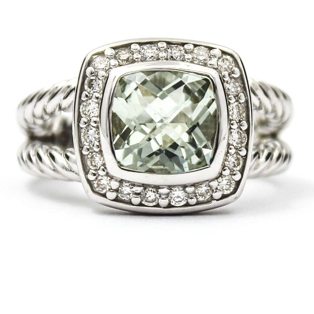 david yurman petite albion ring with prasiolite and diamonds size 4 davidyurman cocktail