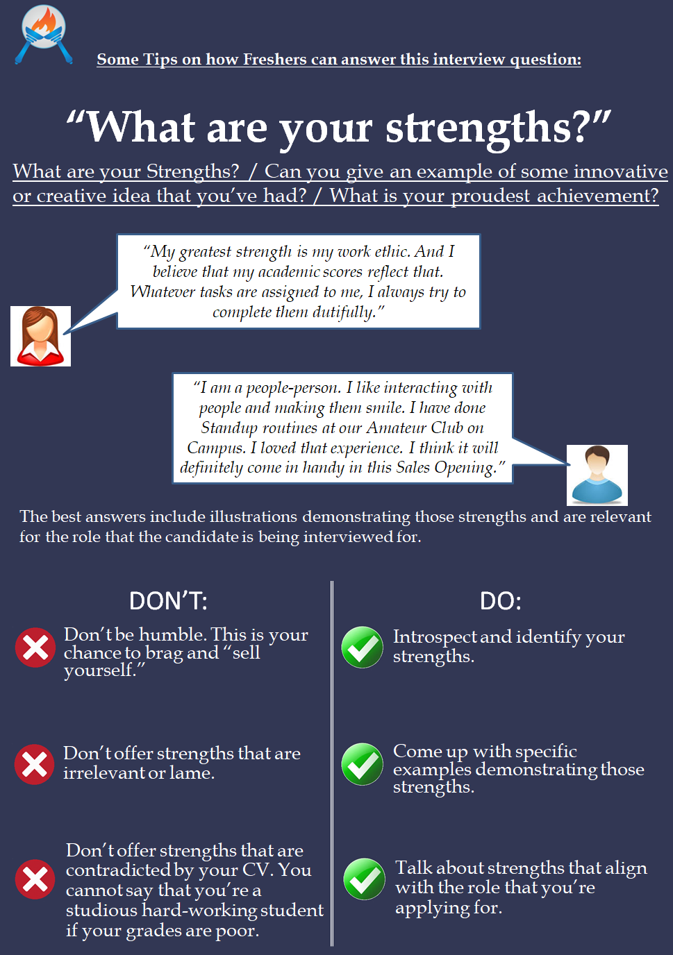 tips on answering commonly asked interview questions on