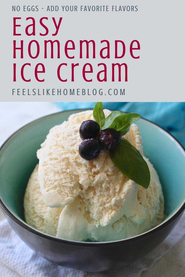 How To Make The Best Homemade Vanilla Ice Cream With No Eggs In 2020 Easy Homemade Ice Cream Homemade Ice Cream Homemade Vanilla Ice Cream