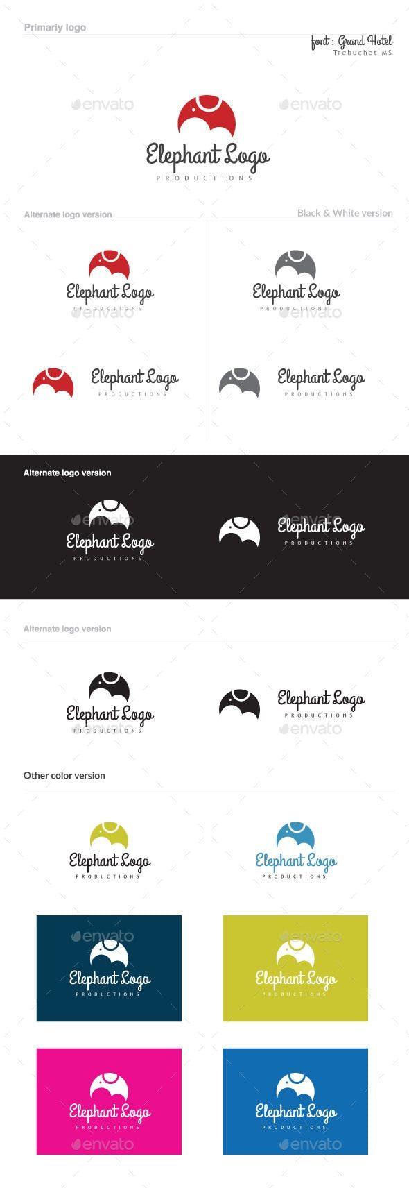 Elephant Logo Elephant Logo Elephant Pet Logo Design