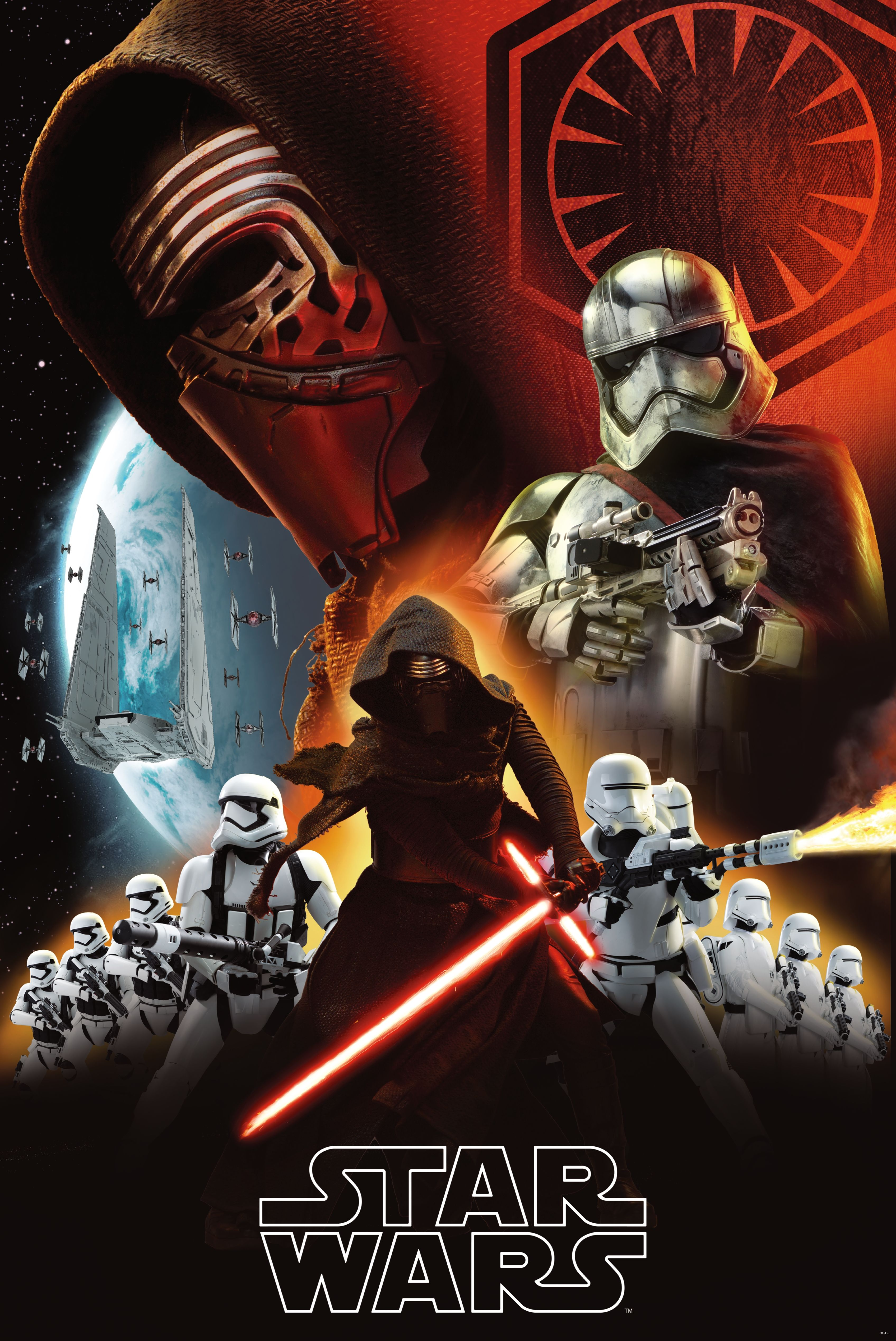 KYLO REN Poster Stormtroopers STAR WARS The Force Awakens Full Size Print