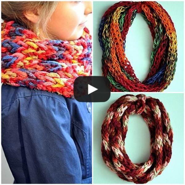 D couvrez comment tricoter une charpe avec les mains - Comment tricoter des mitaines avec doigts ...