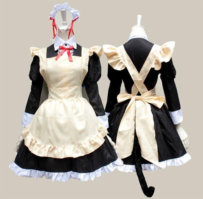 Click to Buy << Oreimo Kirino Kosaka Cosplay Maid Costume Long Sleeve  Skirt. >>