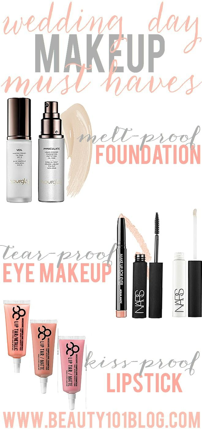looking for the best wedding day makeup products? get ready