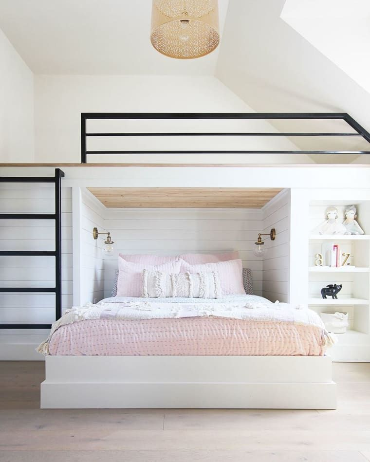 15 Stylish Diy Loft Bed Ideas Of All Sizes To Help You Max Out Your Small Space Room Design Bedroom Bedroom Interior Diy Loft Bed