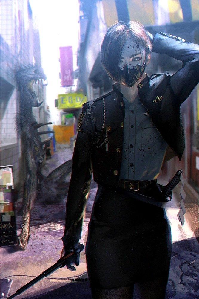 Rui Tomono Cyberpunk anime, Cyberpunk girl, Cyberpunk art