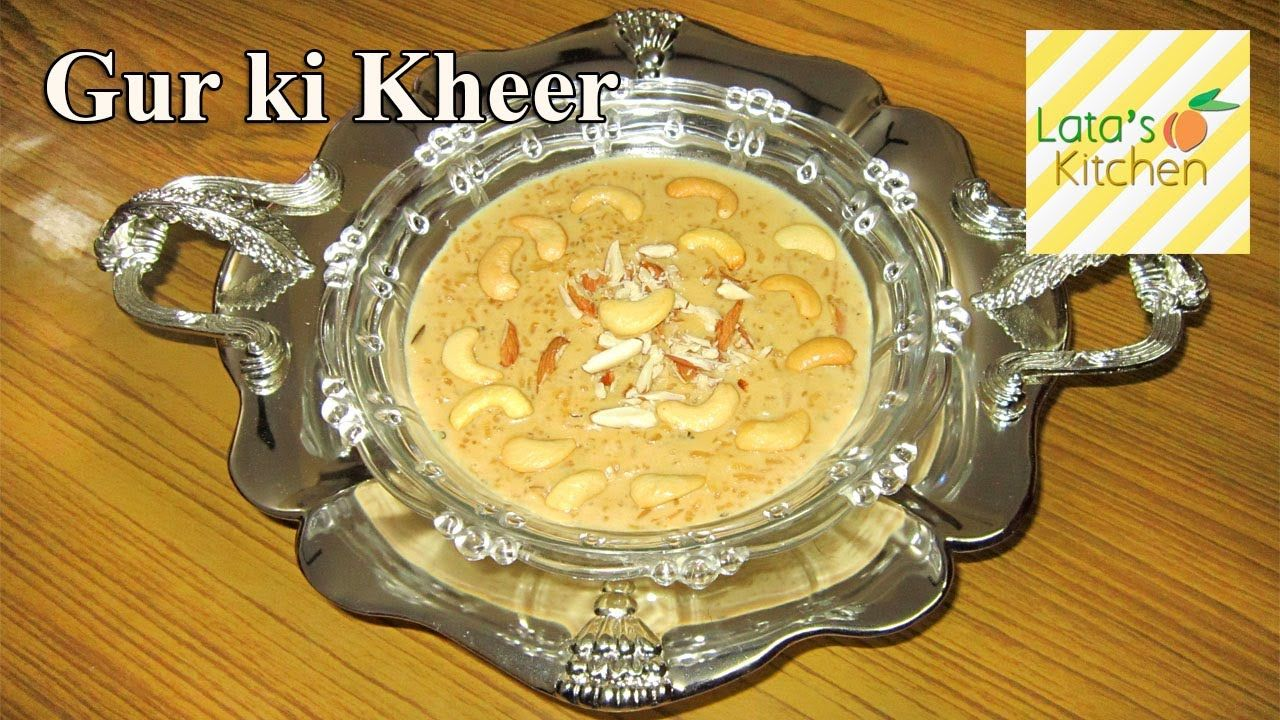 Gur ki kheer jaggery rice pudding dessert recipe video indian gur ki kheer jaggery rice pudding dessert recipe video indian vegetarian recipes by forumfinder Choice Image