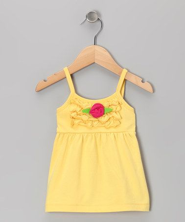 Take a look at this Yellow Rosette Swing Top - Toddler & Girls by Cheeky Smyle on #zulily today!
