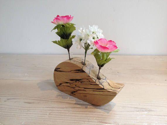 Flower Vase Wooden Flower Vase Triple Vase Glass Tube Vase Holz