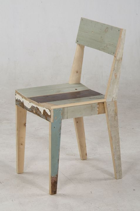 Oh My Goodness. Oak Chair Made Of Scrapwood By Piet Hein Eek.