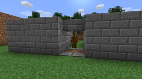 Hidden Double Door with Sticky Pistons. Minecraft Redstone