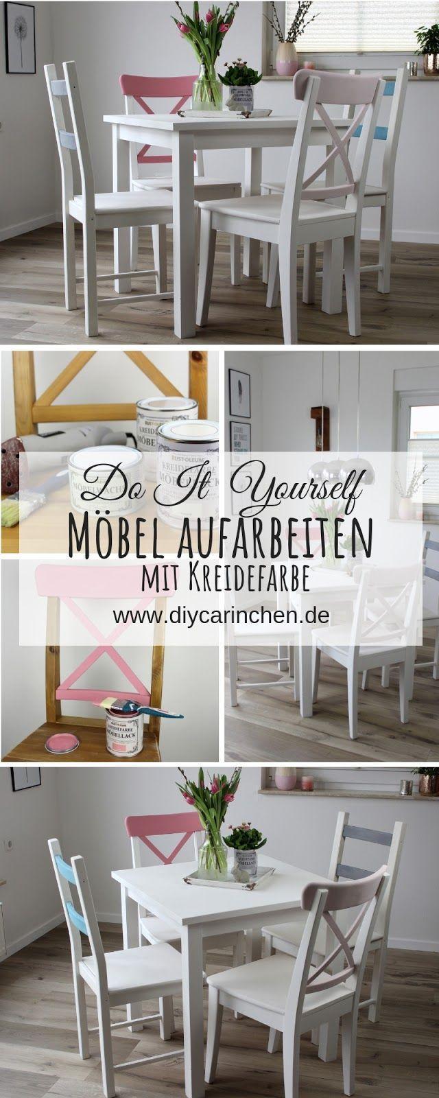 DIY: Alte Möbel aufarbeiten / upcyclen und neu streichen mit Kreidefarbe #oldfurniture