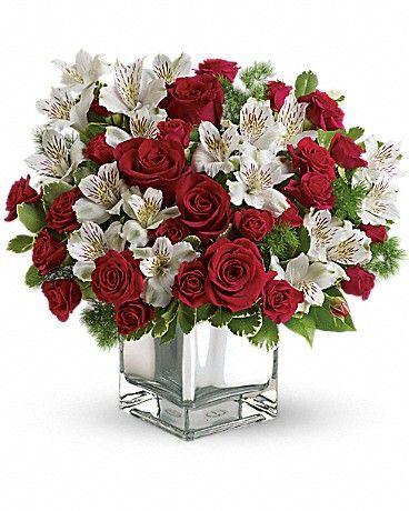 Teleflora's Christmas Blush Bouquet Flower Arrangement