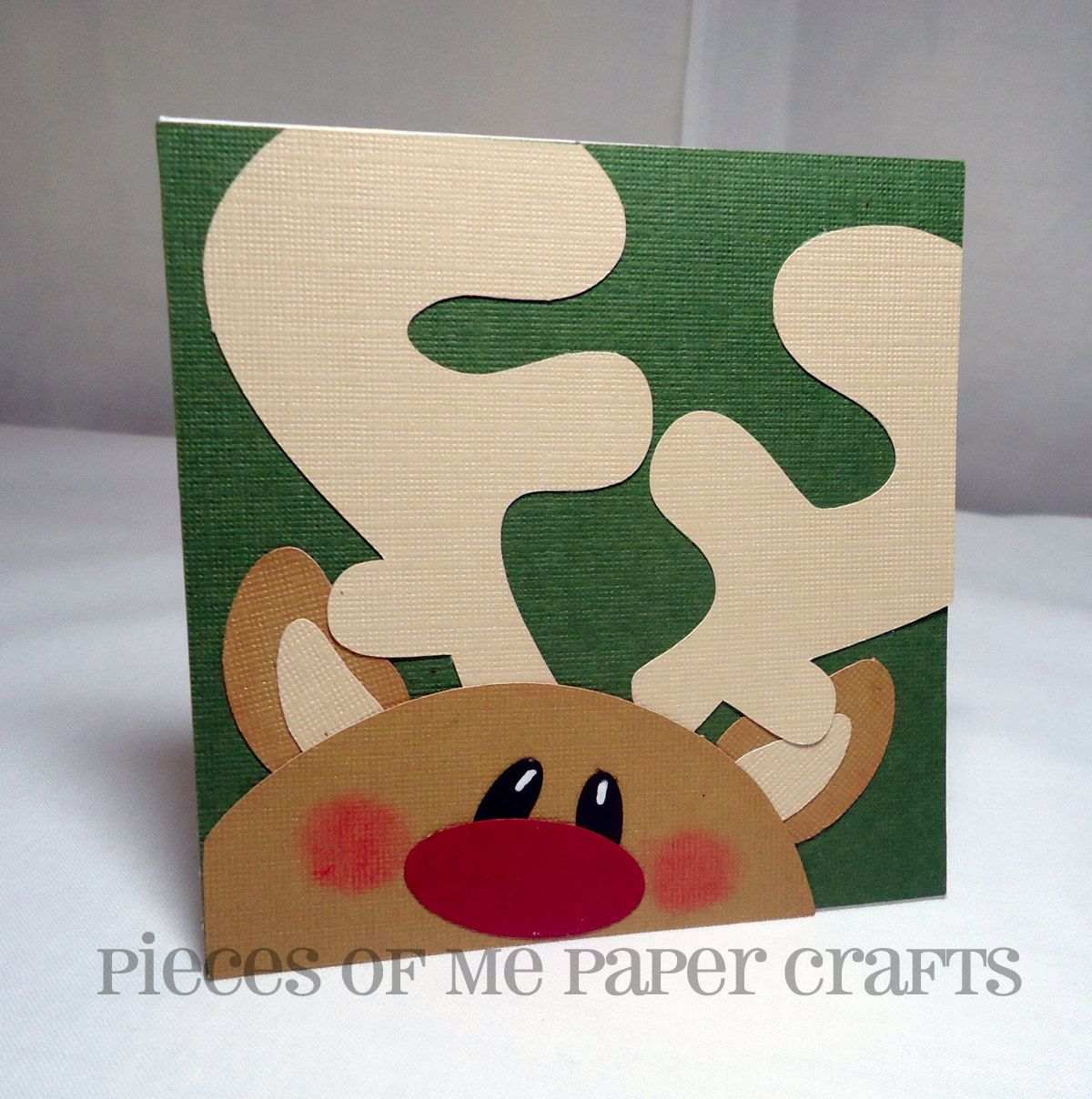 Pieces Of Me Scrapbooking Paper Crafts Winter Faces Christmas  ~ Postales Navideñas Originales Manualidades