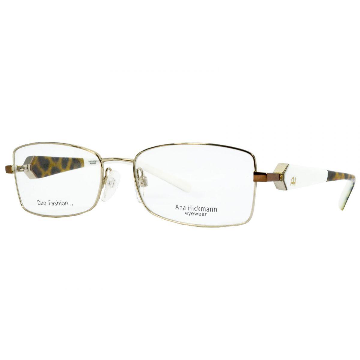 Oculos De Grau Feminino Ana Hickmann Ah1209 04e Tam54 Oculos De