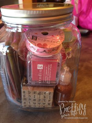 Craft Stuff In A Jar Great Birthday Gift Idea For The Crafty Person You Know