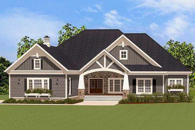 Eye-Catching Craftsman House Plan - 46294LA thumb - 01