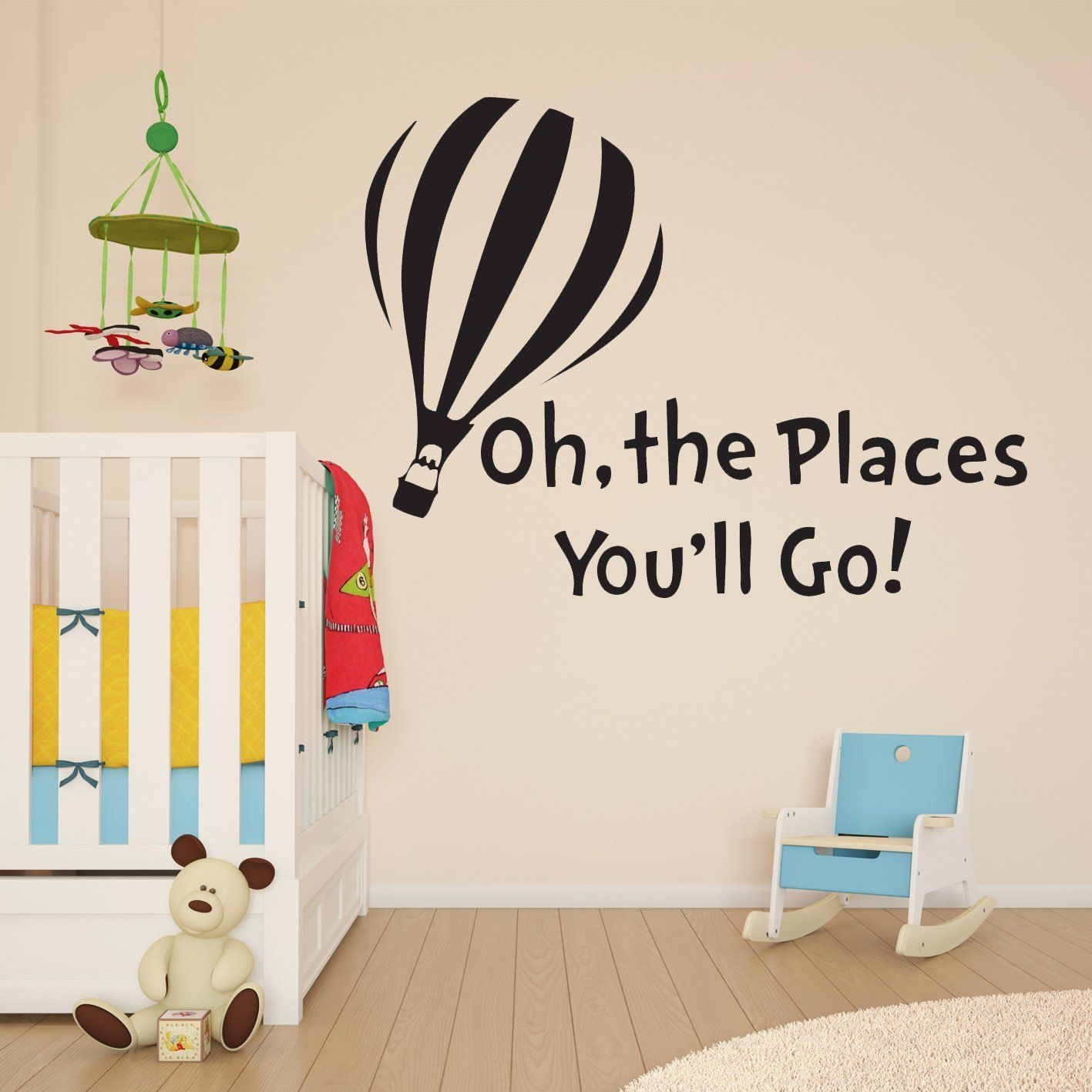 dr seuss oh the places you ll go with balloon children s wall dr seuss oh the places you ll go with balloon children s wall sticker vinyl mural