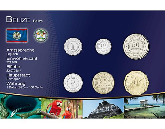 Kursmünzensätze Geld Der Welt Mdm Deutsche Münze Belize In