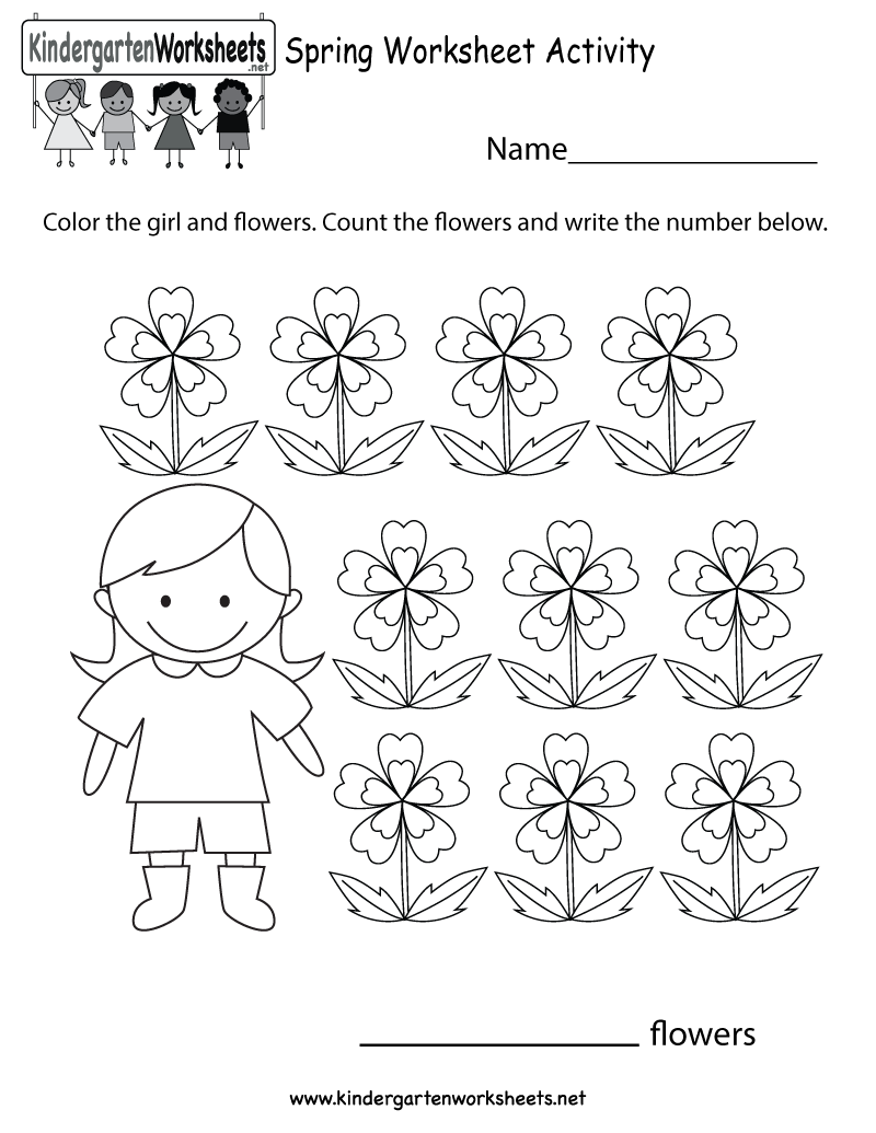 Kindergarten Spring Worksheet Activity Printable – Spring Worksheets for Kindergarten