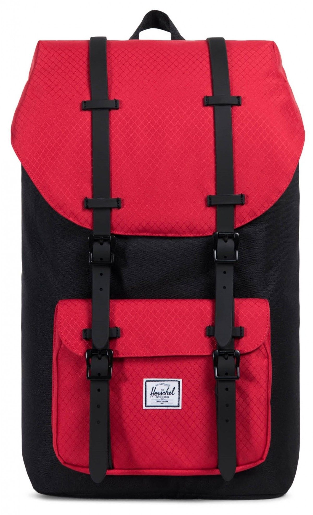 cd4e5462c13d Herschel Little America Backpack 600D Poly Black Scarlet