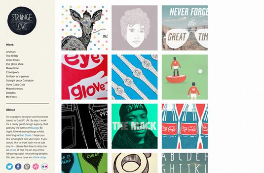 Outstanding Example of Design Portfolios | Graphics for Web Design ...