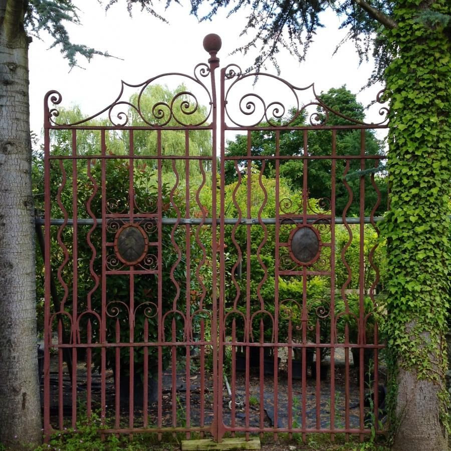 Imposing Antique Wrought Iron Gates For Sale On Salvoweb From Vv