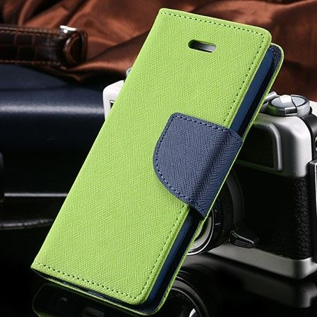 Fashion Black Green Pink Color Ultra Thin Flip Leather Case for iphone 4 4S Luxury Card Slot Wallet Phone Cover Shell iphone4
