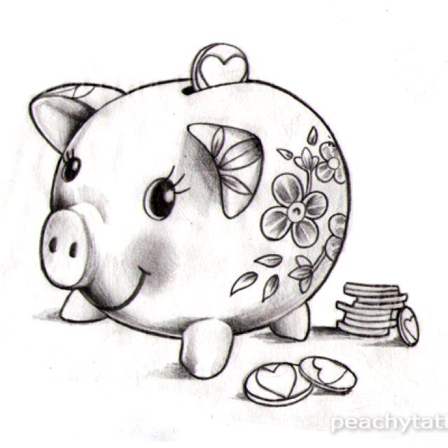 Piggy Bank Tattoo Pig Tattoo Piggy My Canvas