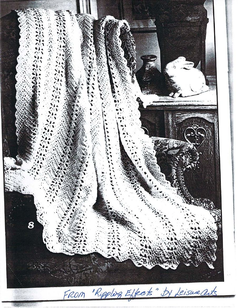 Grandma\'s Lacy Ripple - free pdf pattern at link | CRAFTS: ♥ Hooked ...