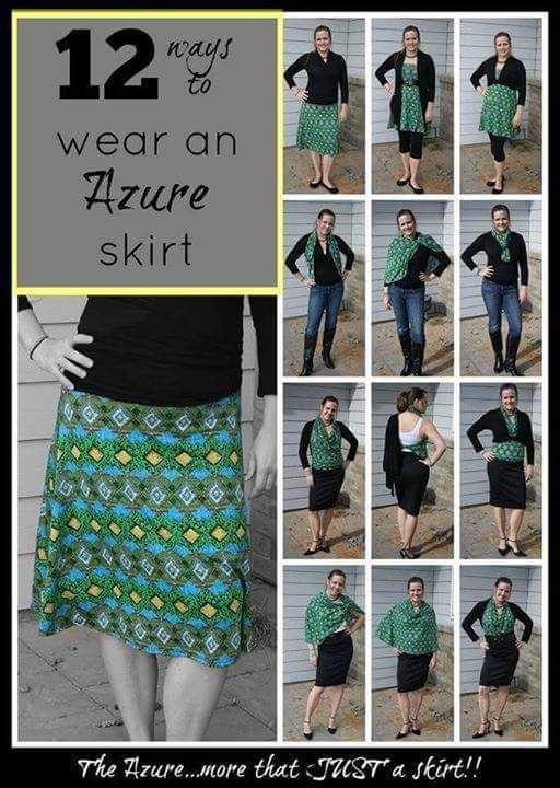48a3d4eb0a019 12 ways to wear the Azure skirt  TrinityLuLaRoe