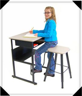 Stand up desk with foot swing would like to try a couple in my