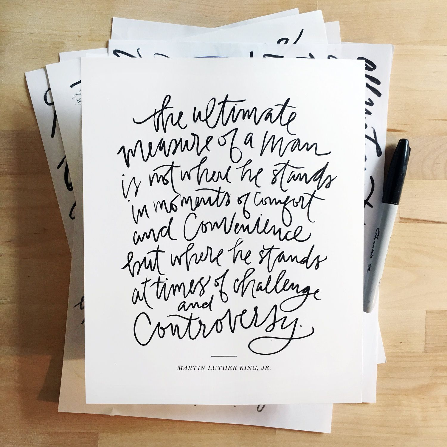 Free Printable Martin Luther King Quote Rebekah Disch