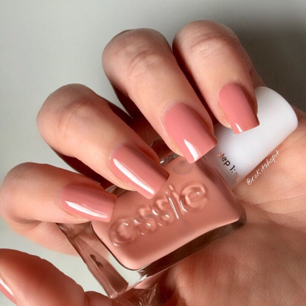 Essie Gel Couture Pinned Up Blush Nude Nails Manicure | Prom ...