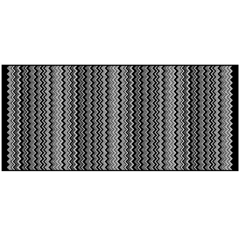 The Luxurious Missoni Home Keith Pure Cotton Terry Bath Mat - Missoni black and white bath mat for bathroom decorating ideas