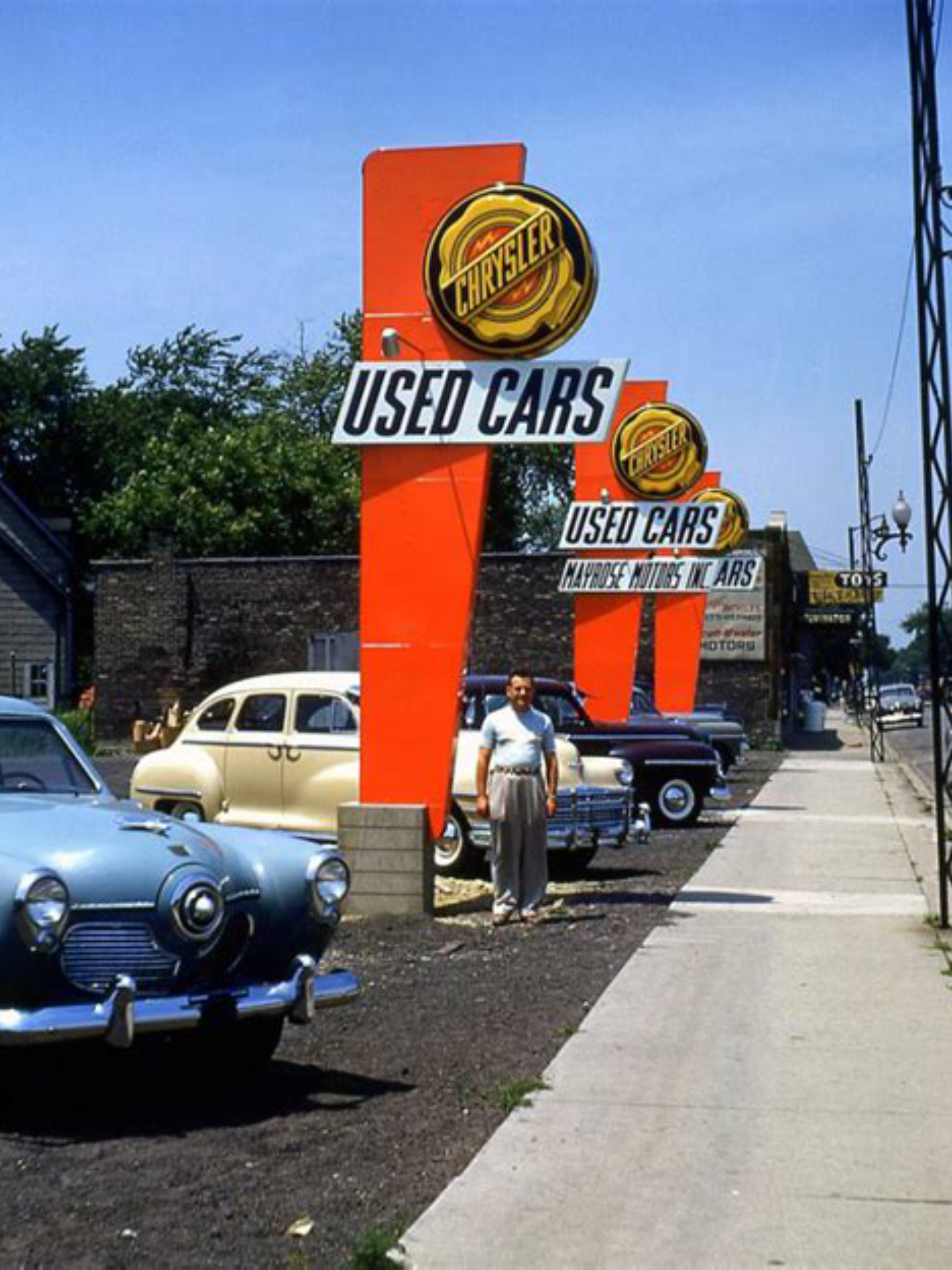 1950 S Mayrose Motors Inc Chrysler Plymouth Studebaker Dealership Melrose Park Illinois Used Car Lots Car Lot Used Cars