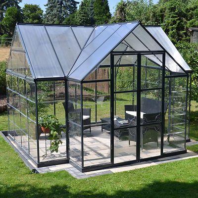 Palram 10 X 12 Chalet Greenhouse Outdoor Sunroom Greenhouse