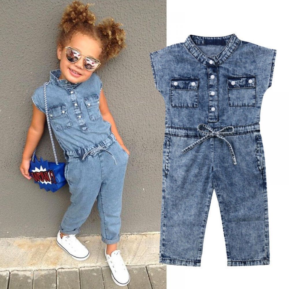 Canis Toddler Kids Baby Girl Cotton Romper Long Jumpsuit Playsuit Outfit Clothes