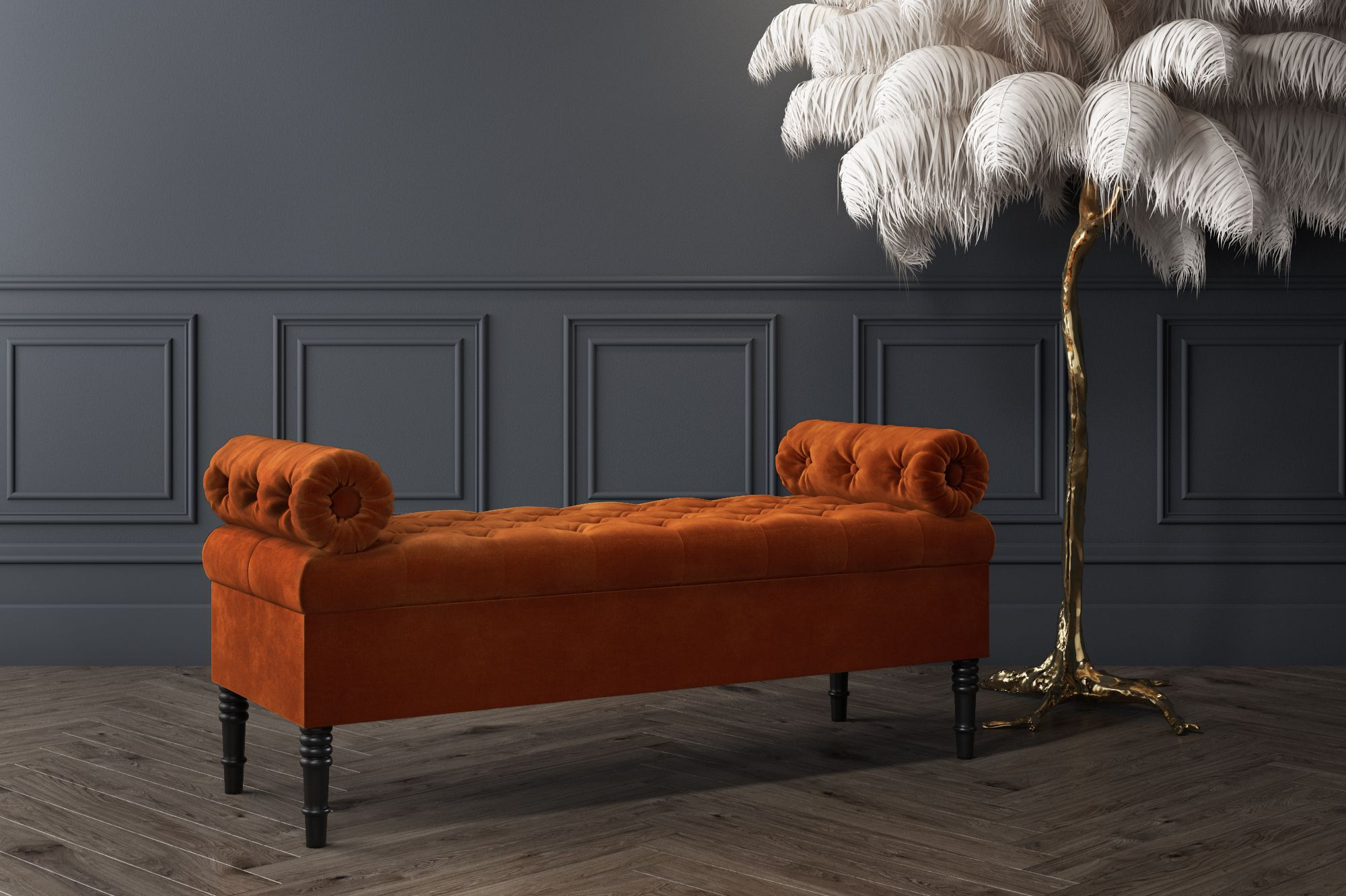 Amazing Safina Burnt Orange Velvet Ottoman Storage Bench In 2019 Gmtry Best Dining Table And Chair Ideas Images Gmtryco