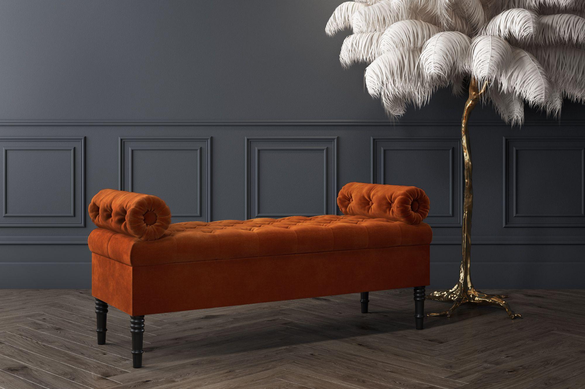 Pleasing Safina Burnt Orange Velvet Ottoman Storage Bench In 2019 Frankydiablos Diy Chair Ideas Frankydiabloscom