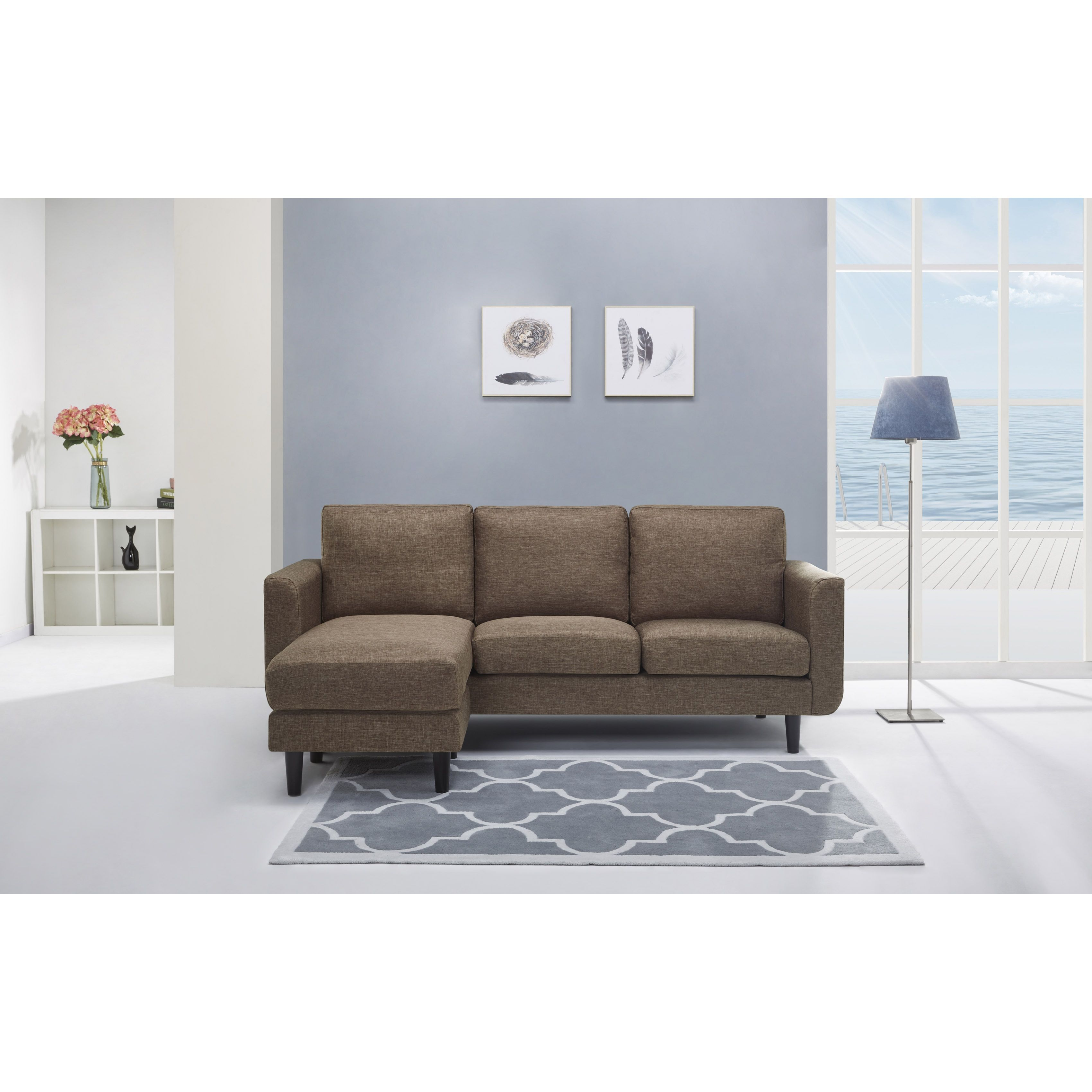 Gold sparrow everett ceramic convertible sectional with reversible