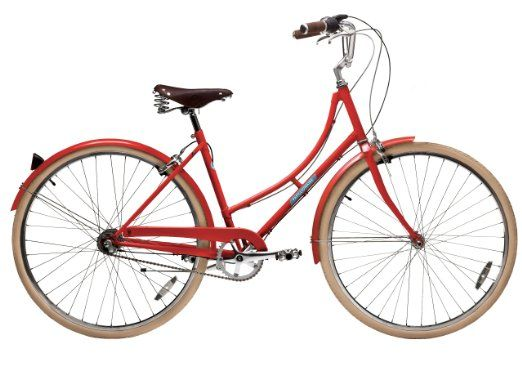 Amazon Com Papillionaire Sommer 8 Speed Vintage City Bike Boston Red 19 Inch One Size Sports Outdoors Retro Bicycle City Bike Bicycle