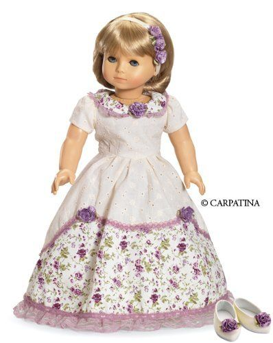 """Victorian Romance Ball Dress with Hair Accessories and Shoes, fits 18"""" American Girl Dolls by Carpatina, http://www.amazon.com/dp/B001GGRC1W/ref=cm_sw_r_pi_dp_NlRmrb0TMWCEZ"""