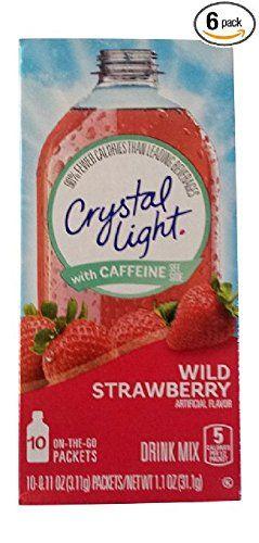 Crystal Light On The Go Wild Strawberry With Caffeine 10 Https Www Amazon Com Dp B001e52vjs Ref Cm Sw R Wild Strawberries Strawberry Drinks Mixed Drinks