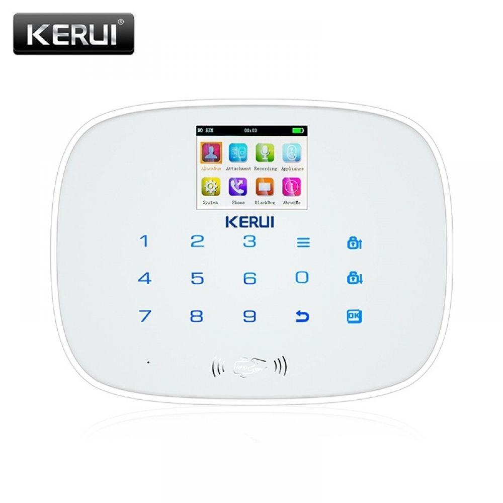 KERUI Black IOS Android APP Wireless GSM Alarm System TFT
