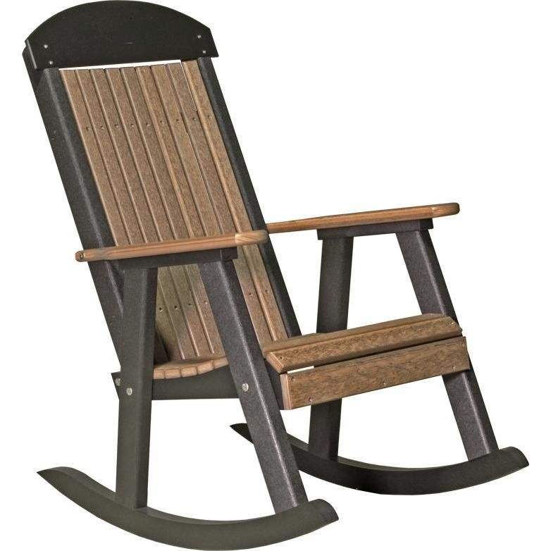 Luxcraft Classic Highback Recycled Plastic Rocking Chair Rocking