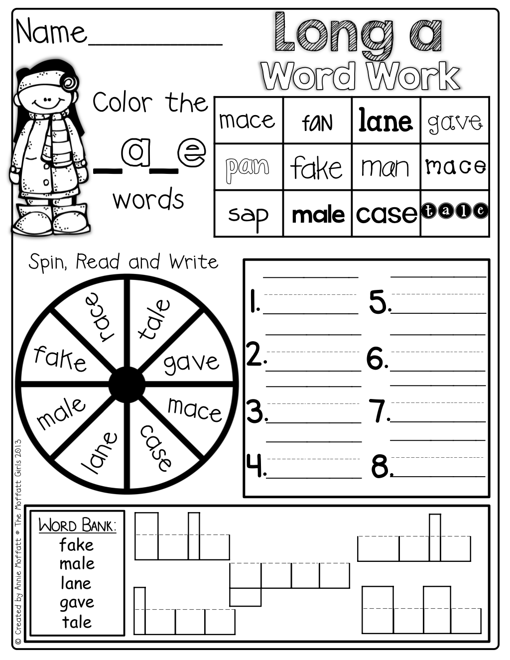 Interactive Word Work With The Silent E Beginning Blends Digraphs Cvc Words And More